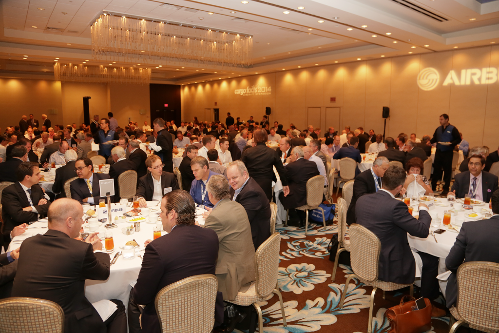 Delegates enjoying a meal at the 2014 edition of the Cargo Facts Symposium
